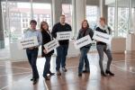 JobCenter Dortmund, Flyer, Gefährungsbeurteilung. Aufgenommen im Rathaus Dortmund