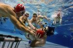 Unterwasserrugby.In einem Fünfkampt treten die Vereinsmitglieder des SV Westfalen in den verschiedenen Diziplinen gegeneinander an.